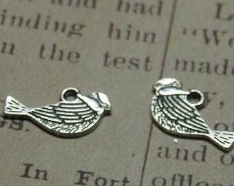 2 charms silver 21x12mm tit