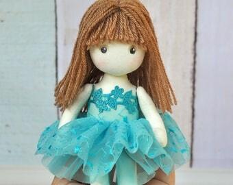 Textile doll decorative ballerina  doll cotton rag doll