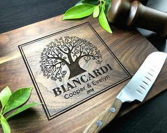 Personalized Cutting Board, Custom Wedding Gift, Love Tree Personalized Gift, Anniversary Gift, Housewarming Gift, Engagement Gift, Bamboo