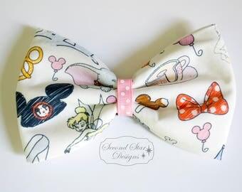 Mouse Ears/Hair Bow // Magic Kingdom/Disney Parks Inspired // Interchangeable Bow for Mouse Ears Headband or Hair