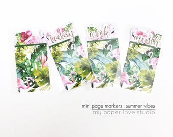 Mini Page Markers / Planner Kit Collection : Summer Vibes