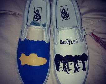 The Beatles Inspired Custom Painted Shoes Vans/Converse Size US M 10