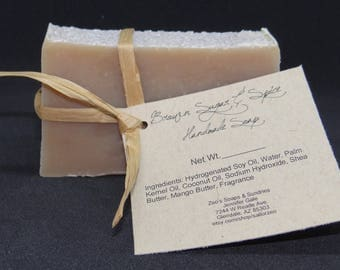 Brown Sugar & Spice Handmade Cold Process Soap