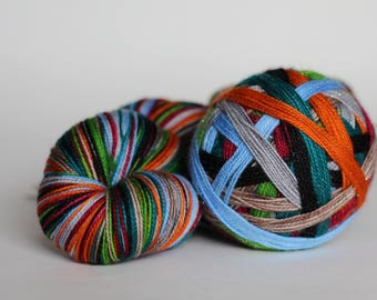 "Dyed to Order - ""Anne With an E (8 color self-striping)"""