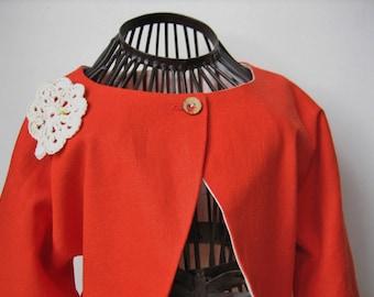 Bolero 8 sleeved orange cotton bolero jacket summer girl jacket with sleeves 3/4 of the summer child Camisole, cardigan in canvas