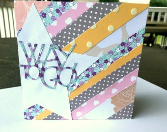 Way to Go! Encouragement Card with Stripey Background
