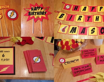 Flash Themed Party Package
