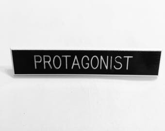 Protagonist pin, writer pin, writer accessory, hero pin