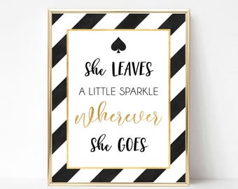 She Leaves a Little Sparkle Wherever She Goes Digital Print | Kate Spade Inspired Print | Gallery Wall Quote