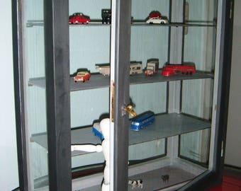 Exhibition showcase, Cabinet, showcase, vintage style vitrine in the shabby