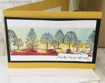 Fathers Day Card, Handmade, Trees, Nature, Dad celebration, water-colour