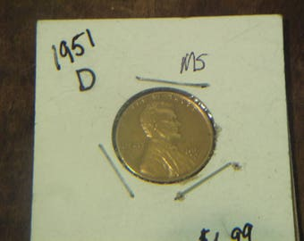 1951-D LINCOLN Wheat CENTS