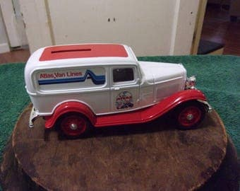 Vintage Atlas Van Lines Limited Edition Car Bank