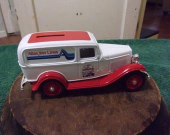 Vintage Atlas Van Lines Limited Edition Car Bank