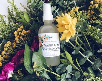 VANILLA & SANDALWOOD Linen + Air Mist | Room Spray | Room Fragrance