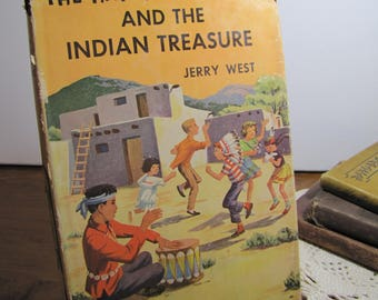 Vintage Book - The Happy Hollisters and the Indian Treasure - Jerry West - 1950s