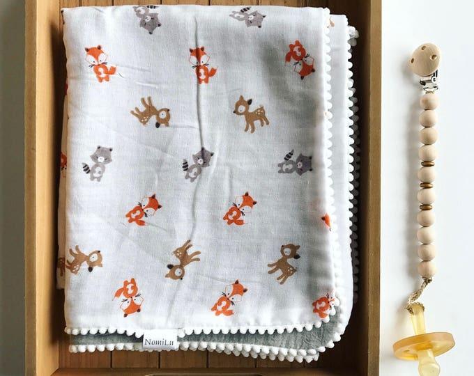 NomiLu Woodland Swaddle Blanket