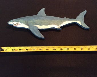 Great White Shark, Hand Crafted, Wall Art, for Child' Room