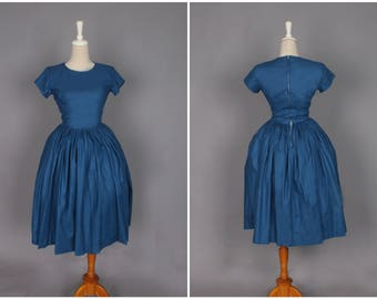 Dorothy Dress in Solid Air Force Blue