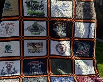 T SHIRT QUILT, T-shirt Quilt, Handmade Quilt, Custom Quilt, Graduation Quilt, Fathers Day Quilt, Concert Quilt,