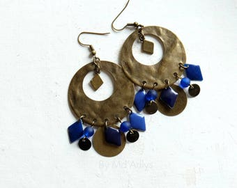 Dreamers - small blue diamond Earrings
