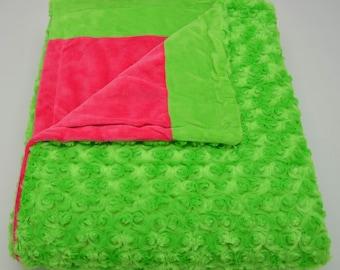 Lime & Fuchsia Blanket