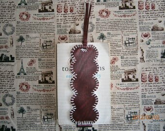 "Bookmark ""DREAM"" original faux Cuir.bordeaux T: 19cm x 7cm"