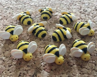 Bumble Bee Thumbtacks Or Magnets 10pcs