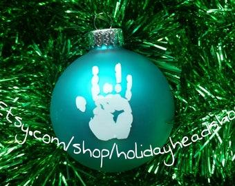 Handprint ornament  Etsy