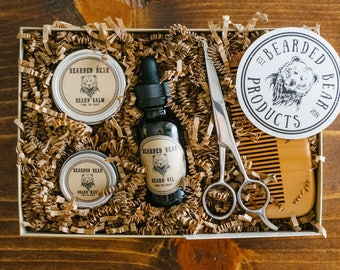 BEARD GROOMING KIT-Free shipping - Bearded Bear - All included, All Natural, Hand made in the U.S.A!