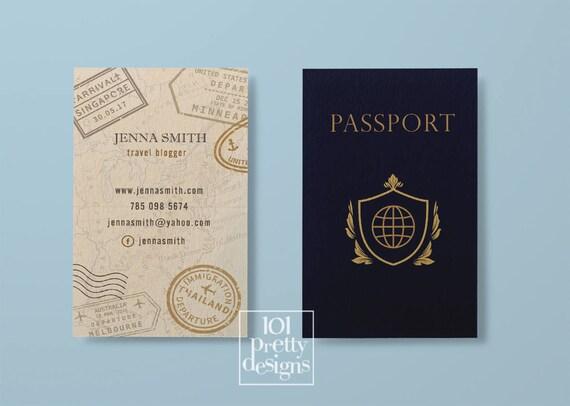 Travel business card traveller business card passport business card il570xn colourmoves