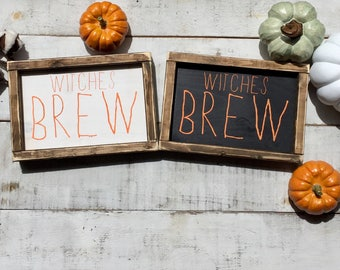 Witches brew/ Halloween decor/ fall decor/ home decor/ farmhouse style/ wood signs/ Halloween / fall/ gifts