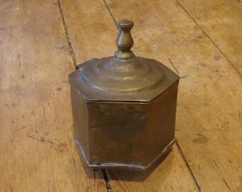 Vintage copper sugar bowl