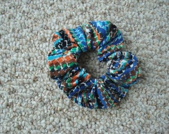 Multi - Colored Scrunchie / Ponytail Holder / Hair Accessery / Fashion Accessery / Made in USA