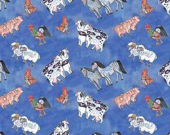 Noahs Ark Animal Fabric Jim Shore Toss Kids Church Religious Bible Story Cotton Fabric