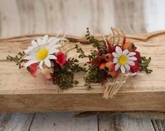 Flower hair pins - Marguerite