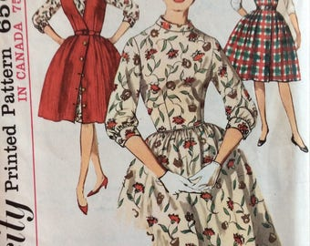 Simplicity 5107 misses dress & jumper size 12 bust 32 vintage 1960's sewing pattern