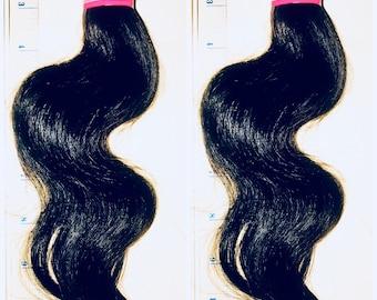 100% Human Hair.  Brazilian Hair Bundle In 12 Inches, Ready to wear hair