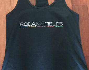 Rodan + Fields Rhinestone Tank Top, V-Neck, or Crew neck tee - available in Youth and Adult Sizes