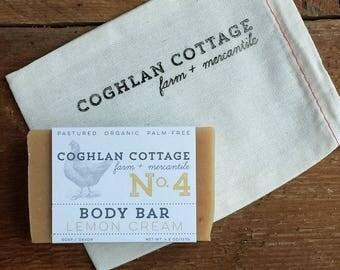 BODY BAR | Lemon Cream Goat Milk Soap with French Yellow Clay, Citrus + Vanilla