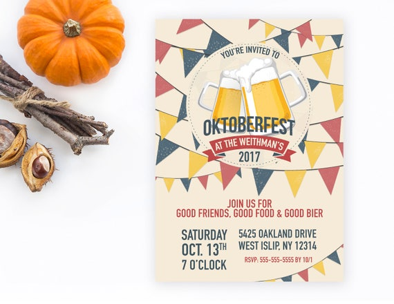 Oktoberfest Invitation Oktoberfest Party Invitation – Oktoberfest Party Invitations