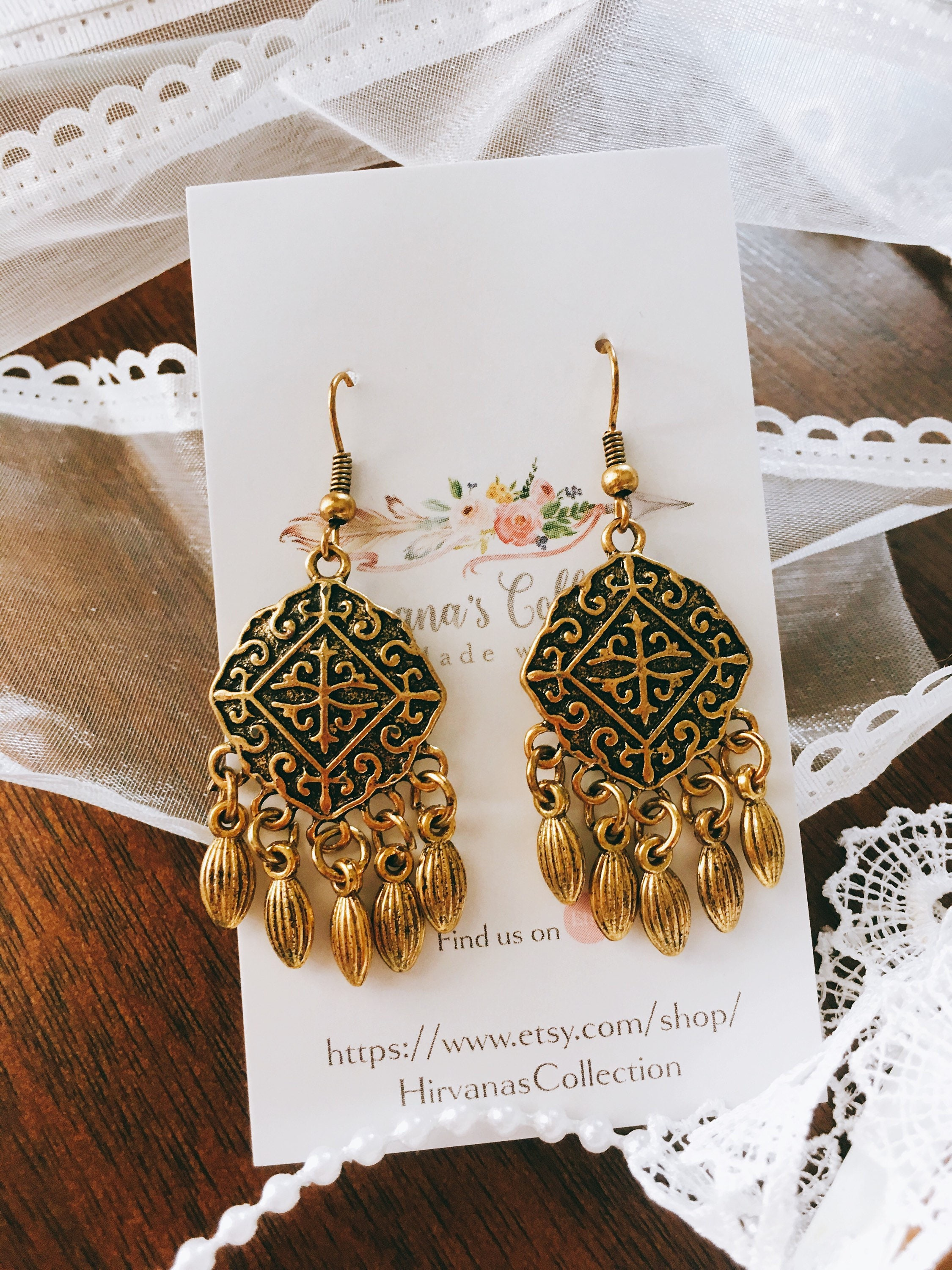 chic metal fullxfull jewelry for gold her drops filigree bohemian bronze earrings il gift arabian earring p boho