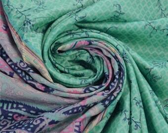KK Ethnic Printed Saree Pure Silk Craft Blue Fabric Zari Border Sari