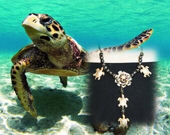 Baroque necklace - TURTLE island