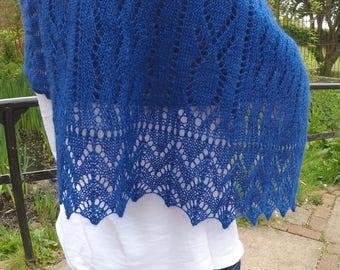 Knitting Pattern for The Mackerel Shawl rectangular wrap