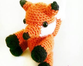 Toy Fox - Children's Toy Fox / Crochet Toy Fox / Woodland Animals / Stuffed Toy Animal / Toy Plushie / Amigurumi / Friend of the Forest /