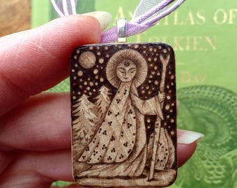 Lady of the Forest Birchwood Pendant