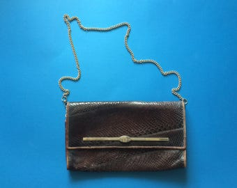 Vintage Italian Leather Evening Bag