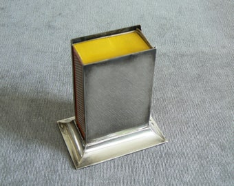 Larger Size Hallmarked Silver Edward VII Silver Match Box Table Top Sleeve - Will Take a Box of Cooks Matches.