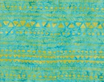 Moda LONGITUDE BATIKS by Kate Spain-turquoise/citrine (27259 171)-by the YARD